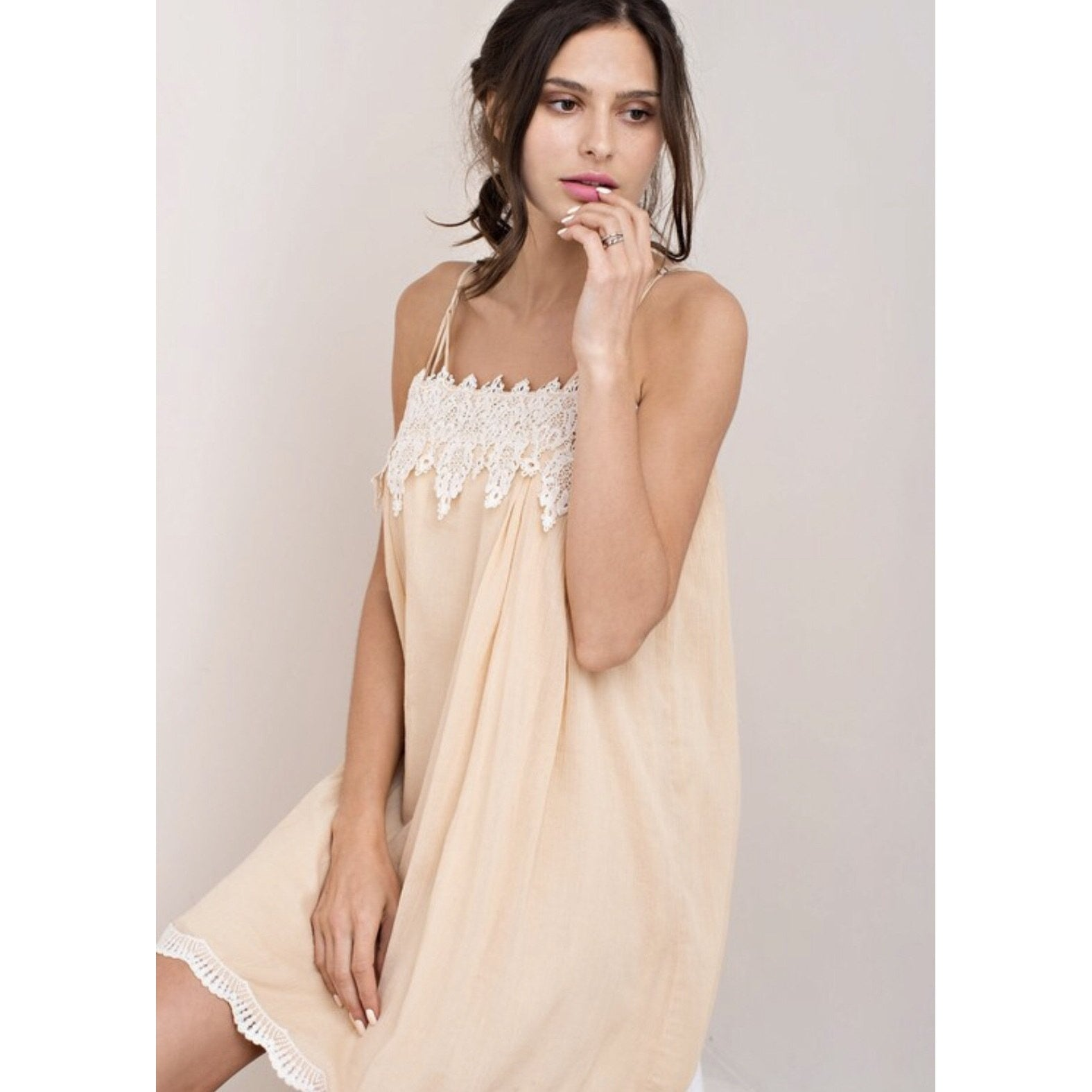 Bisque Crepe Dress