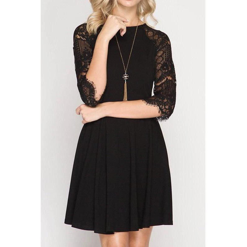 Classy Black Party Dress