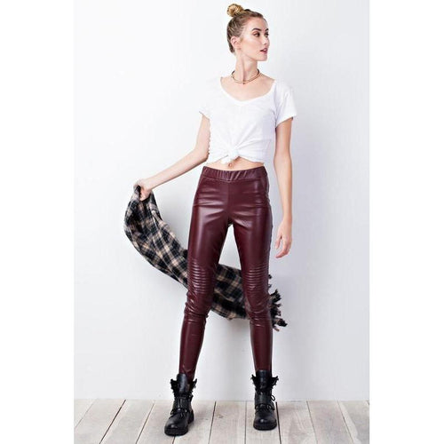 Red Rider Leather Skinnies