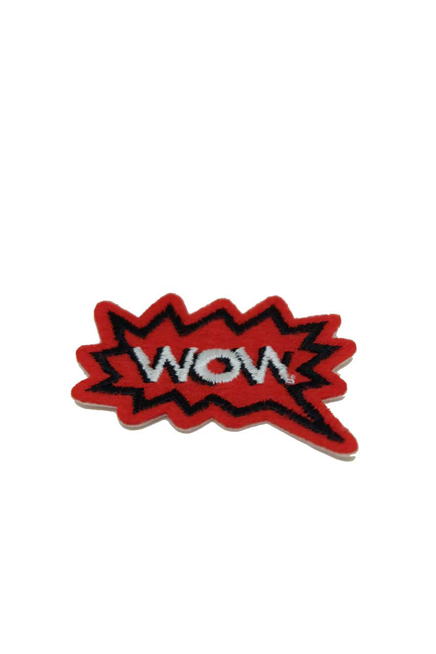 Wow Red and Black Fabric Patch