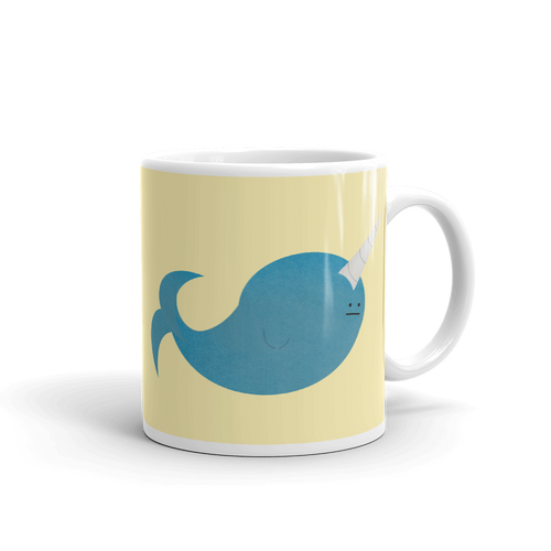 indifferent narwhal mug
