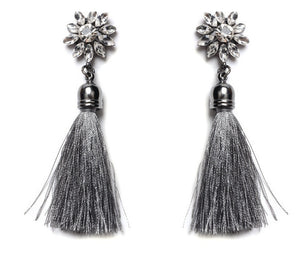 Mosaic Thread Bohemian Tassel Earrings - SaveOnn Cart
