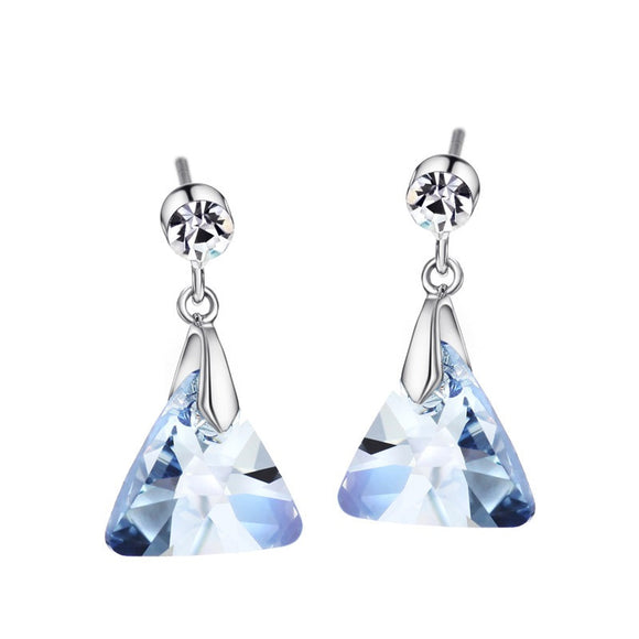 Rhinestone Teardrop Tassle Crystal Earrings - SaveOnn Cart