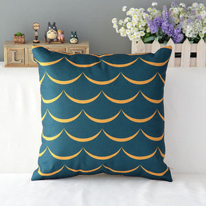"Waves 18"" inch Square Cotton Linen Decorative Throw Pillow Case - SaveOnn Cart"