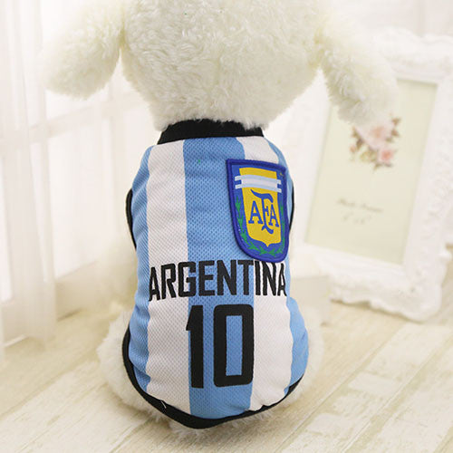 Argentina Soccer Team Summer Dog Vest - SaveOnn Cart
