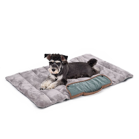 Traveler's Friend Rollup Double-Sided Cozy Soft Dog Bed, 39.4*25.6inch