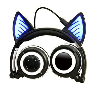 SaveOnn Cart Foldable Wireless Bluetooth Cat Ear Headphones - SaveOnn Cart