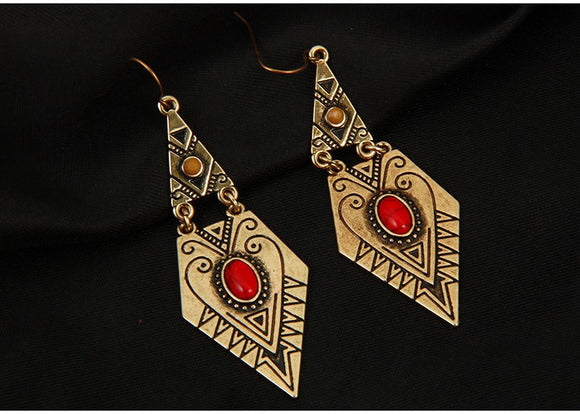 Vintage Exquisite Carved Retro Drop earrings - SaveOnn Cart