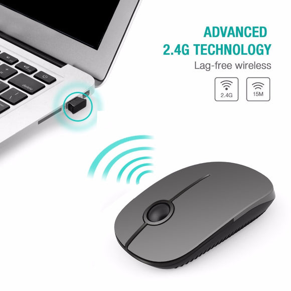 Wireless Mouse With Nano Receiver for Mac/ Windows/ Vista