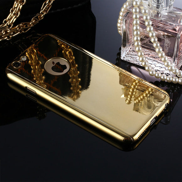 Deluxe Mirror Plated 360 Full Body Protection Case for iPhone 6 6s 7 Plus +Tempered Glass