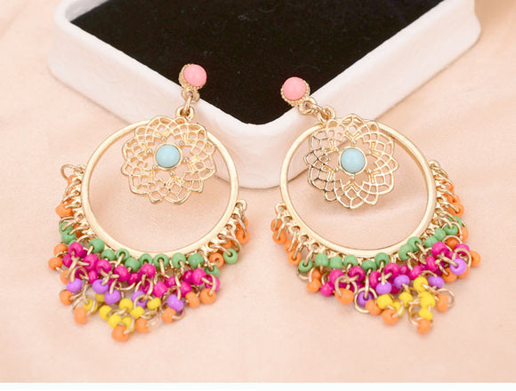 Fashionable Rhinestone Drop Earrings - SaveOnn Cart