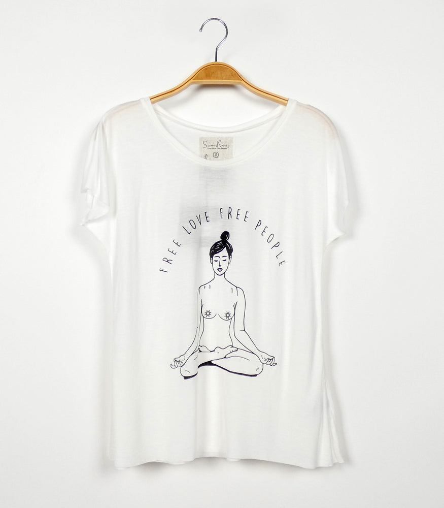 T-Shirt Dance Yoga Lady
