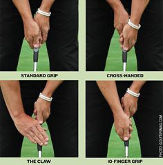 Examples of different putting styles