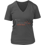 "Definition of ""Par"" - Ladies V-Neck Tee"