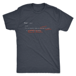 "Definition of ""Par"" - Mens Triblend Tee"