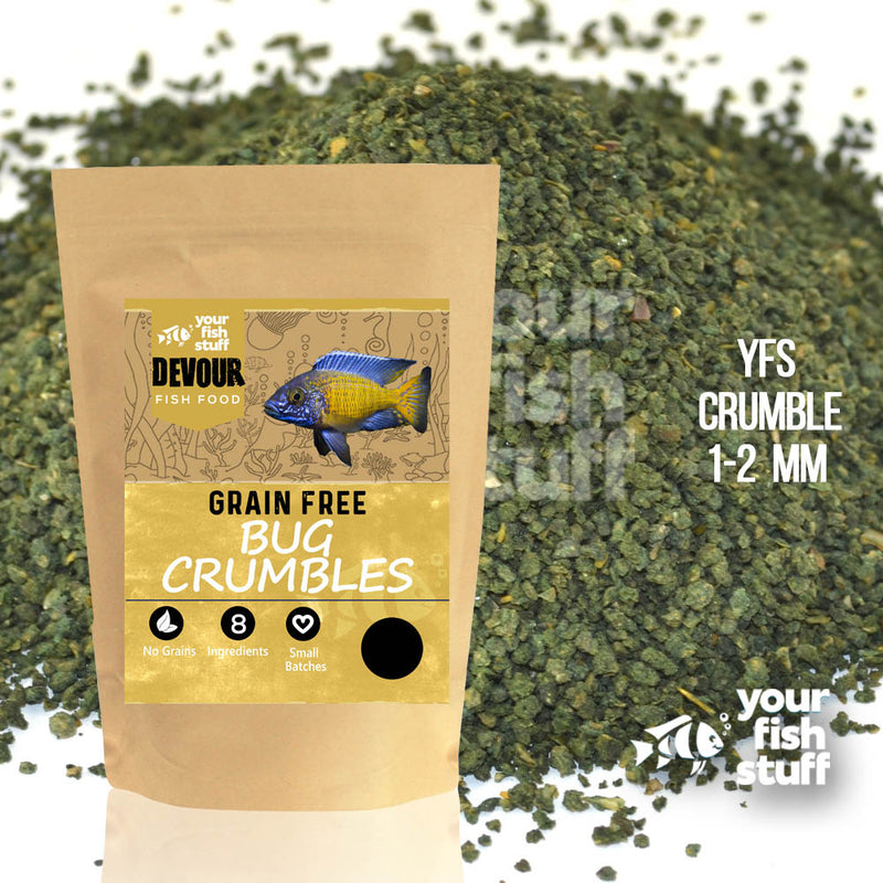 Grain Free Bug Formula Crumbles Fish Food