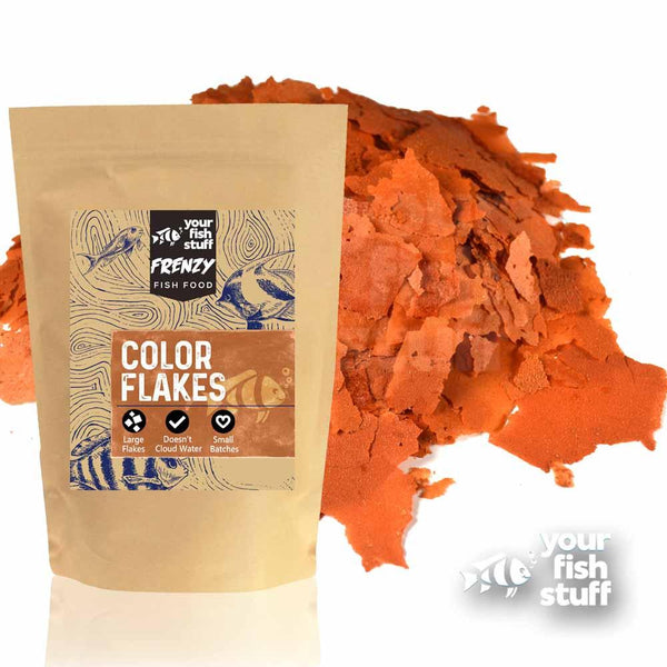 Color Flakes Aquarium Fish Food