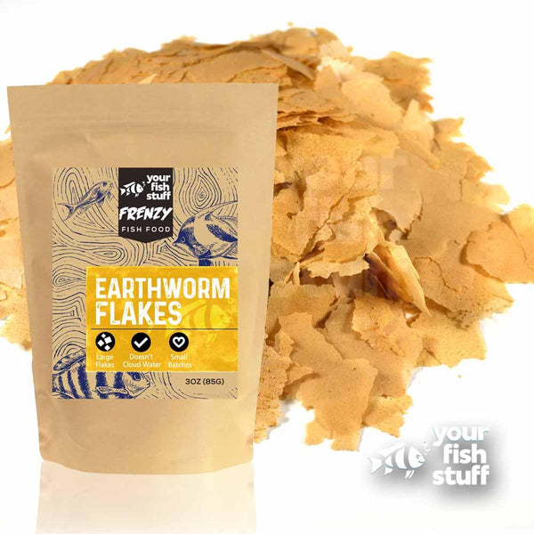 Earthworm Flakes Bulk Aquarium Fish Food