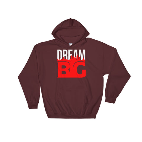 DREAM BIG! - Hooded Sweatshirt (White Red Text)