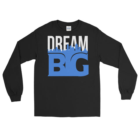 DREAM BIG! - Long Sleeve T-Shirt (White Blue Text)