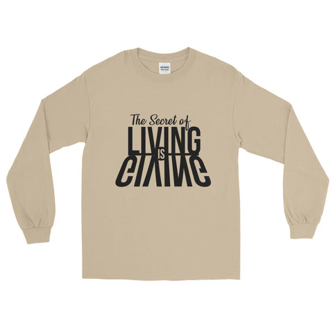 Living is Giving - Long Sleeve T-Shirt (Black Text)