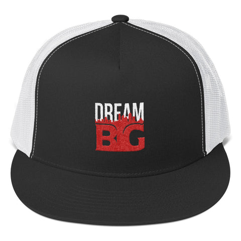 DREAM BIG! - Trucker Cap (White Red Text)