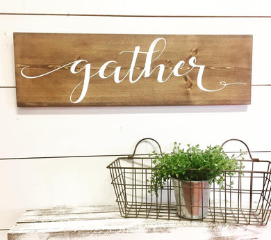 Gather Inspirational Wall Word