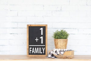 Family Number Sign - 7.5""