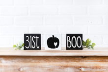 SET OF 3 blocks 31st/pumpkin/BOO Halloween Wood Sign - solid - small blocks