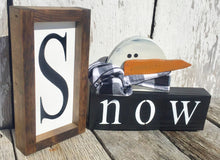 Set of 3 Snow Block with Snowman
