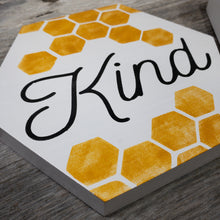 Bee Kind Caring - Hexagon Blocks - Set of 3 - Shelf Sitter