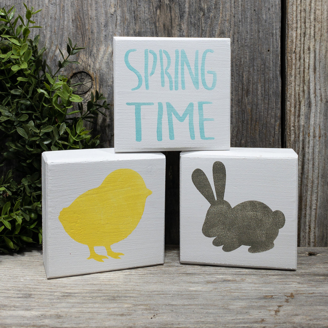 Springtime Blocks - Set of 3