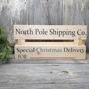 Christmas Shipping Crates - Special Delivery Box for Christmas - Personalized Christmas Eve Box