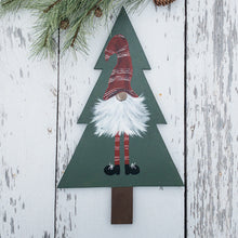 Gnome Door Hanger - Winter Door Decor - Seasonal Wall Hanging - Hand Painted Christmas Gnomes