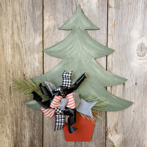 Christmas Tree Door Hanger - Seasonal Winter Decor