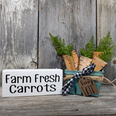 Farm Fresh Carrots - Bunny Bait - Seasonal Home Decor - Farmhouse Spring