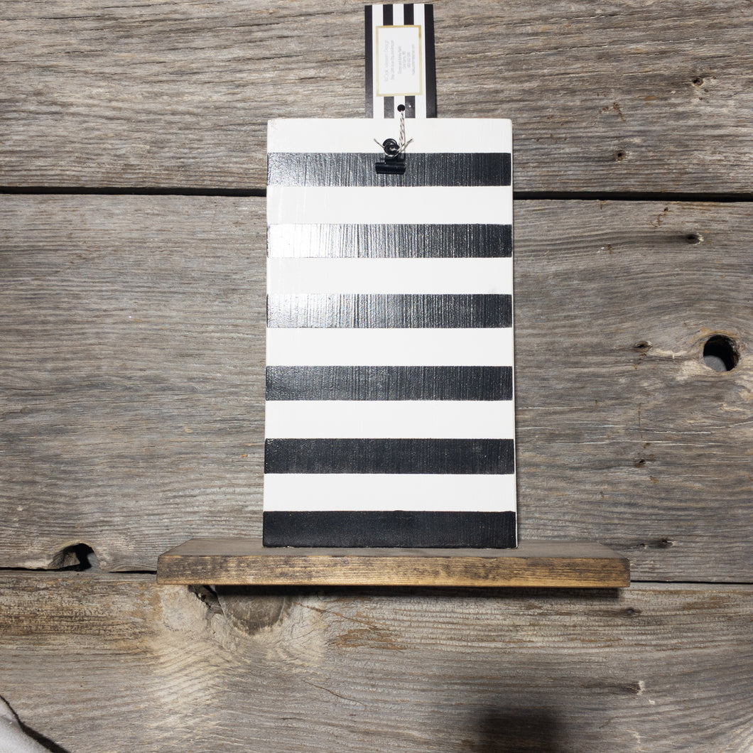 Picture Holder - Black Stripes - Damaged