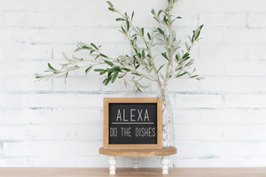 Alexa, Do the Dishes Wood Sign - framed solid - 8.75""