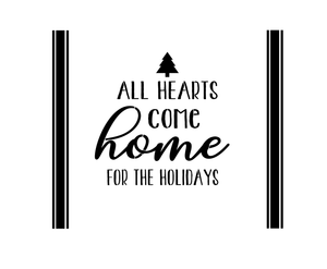 Stencil - All Hearts Come Home For The Holidays