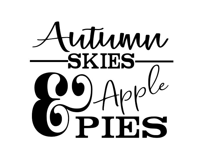 Stencil - Autumn Skies & Apple Pies - Fall Sign Design