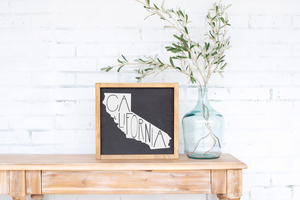 California Wood State Sign - solid - 11.25""