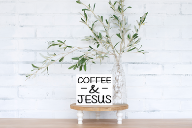 Coffee & Jesus - solid - 7.25