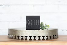 Coffee Wood Sign - solid - small block