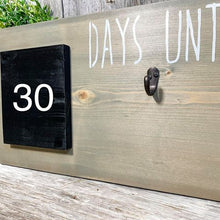 Countdown Chalkboard Sign - Days Until - Holiday Hanging Wall Art - 3D - Metal Hook