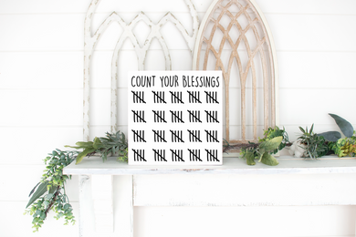 Count Your Blessings - solid - 11.25