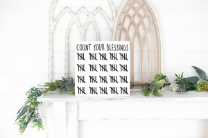 Count Your Blessings - solid - 11.25""