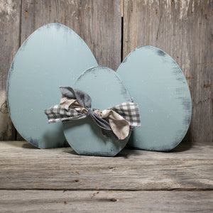 Farmhouse Eggs - Cutout - Set of 3 - Blue