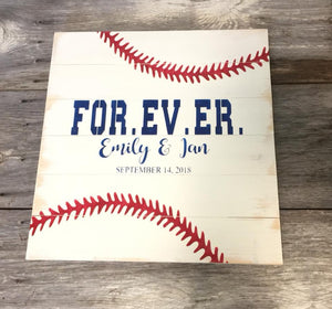 Baseball Wedding Guest Book