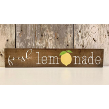 Fresh Lemonade Shelf Sitter with Lemon Sign