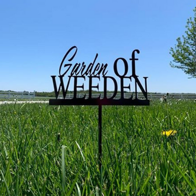 Metal Garden of Weeden Plant Stake